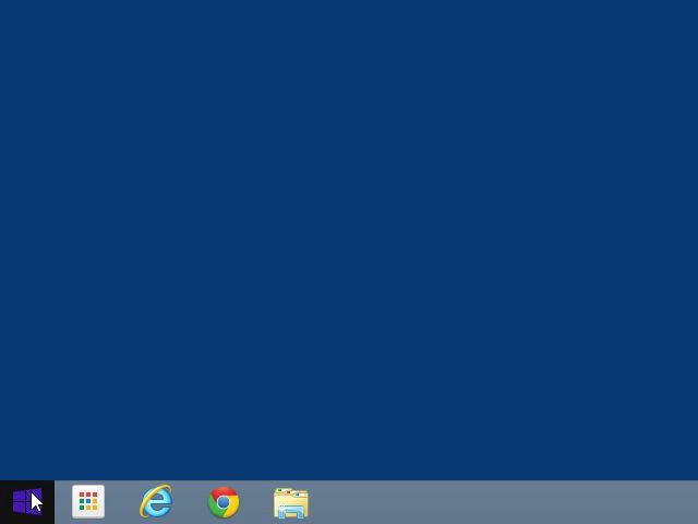Windows 8.1 のスタートボタン
