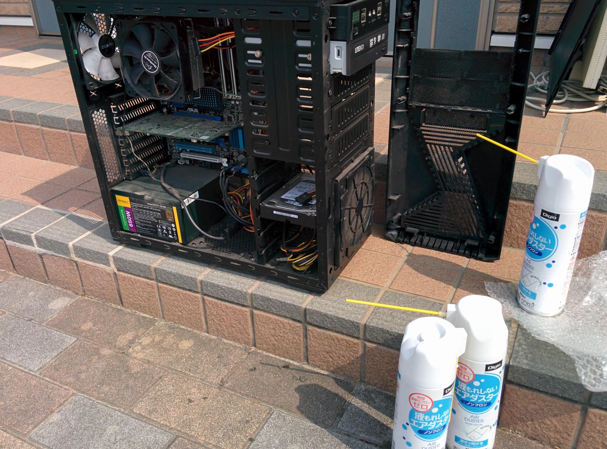 デスクトップパソコンの清掃